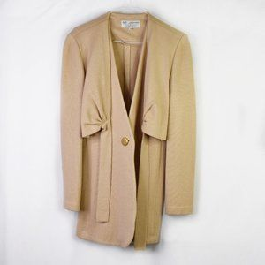 St. John Collection Beige Knit Duster Cardigan 8
